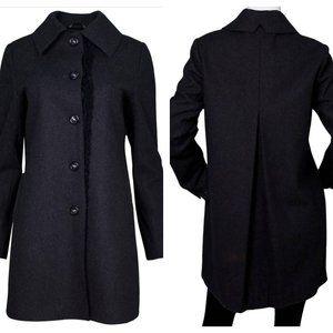 Vera Wang Charcoal Grey Wool Coat